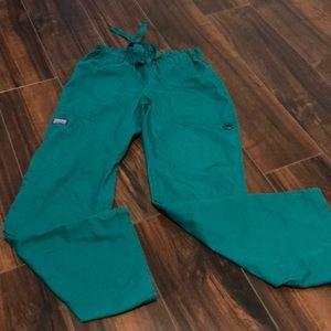 Cherokee Workwear hunter green scrub pants
